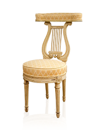 """Lyre Back """"Voyeuse"""" Chair in the Manner of Georges Jacob"""