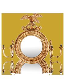 A 19th Century Convex Mirror