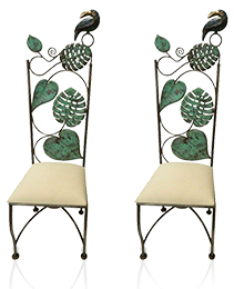 Pair Emilia Castillo Parrot Chairs