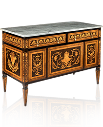 Marquetry commode by Gillows