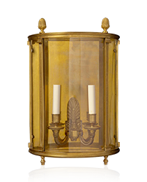 DIRECTOIRE Style gilded bronze two light wall lantern