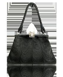 1950s Mario Buccellati Silk and Silver Evening Bag