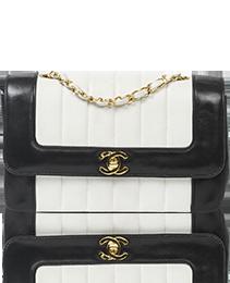 Chanel Vintage Classic Flap Black & White