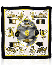 Hermes Transportation Silk Scarf