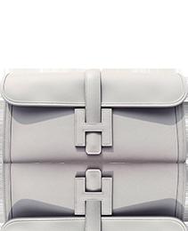 Hermes Gris Perle Pearl Grey Jige Elan Clutch Bag 29cm Superb