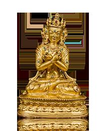An important gilt bronze figure of Vajradhara, Tibet, Circa 1400