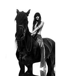 Rankin - Helena Christensen on Horse