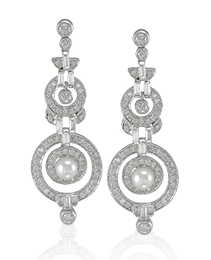 Diamond & Pearl Earrings