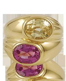 Pink & Yellow Sapphire Ring by Bulgari