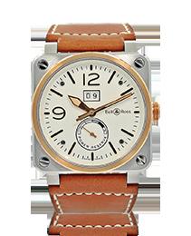 Bell & Ross BR03-90 Steel & Rose Gold Wristwatch