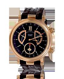 V.C.A. Monsieur Arpels Alarm GMT 18K Rose Gold Watch