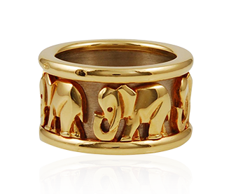 Shop Signed Jewels - Elephant Wedding Ring by Cartier
