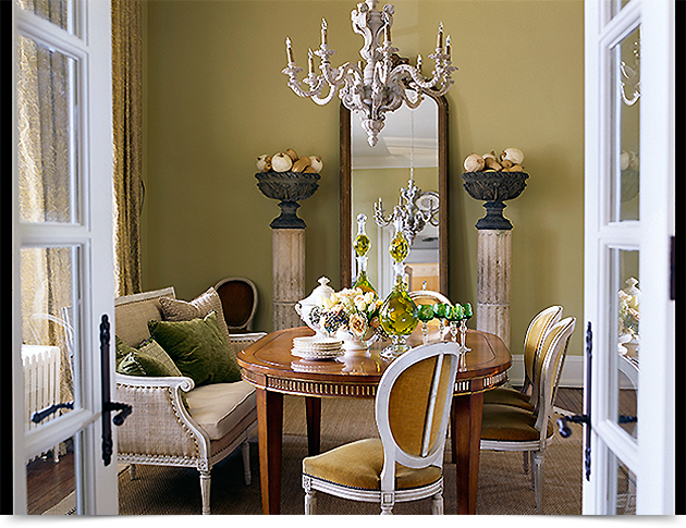 venetian columns flank an impressive floor length mirror in the dining area photo credits courtesy of barry dixon