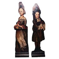 Pair of Figural Dummy Boards, Late 19th Century