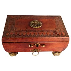 Regency Period Red Leather Fitted Box, England, c. 1825