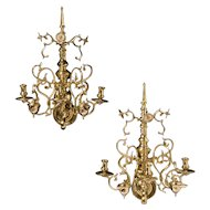 18th Century Dutch Brass Sconces