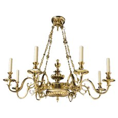 18th Century Bronze Chandelier