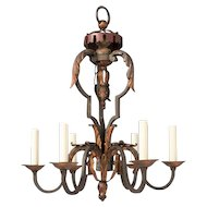 Louis XV-style Iron Chandelier