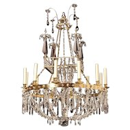 Art Deco Crystal Chandelier By Maison Bagues