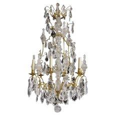 Louis XV-style Rock Crystal Chandelier