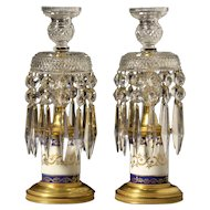 Pair of Cut Crystal Candelabra