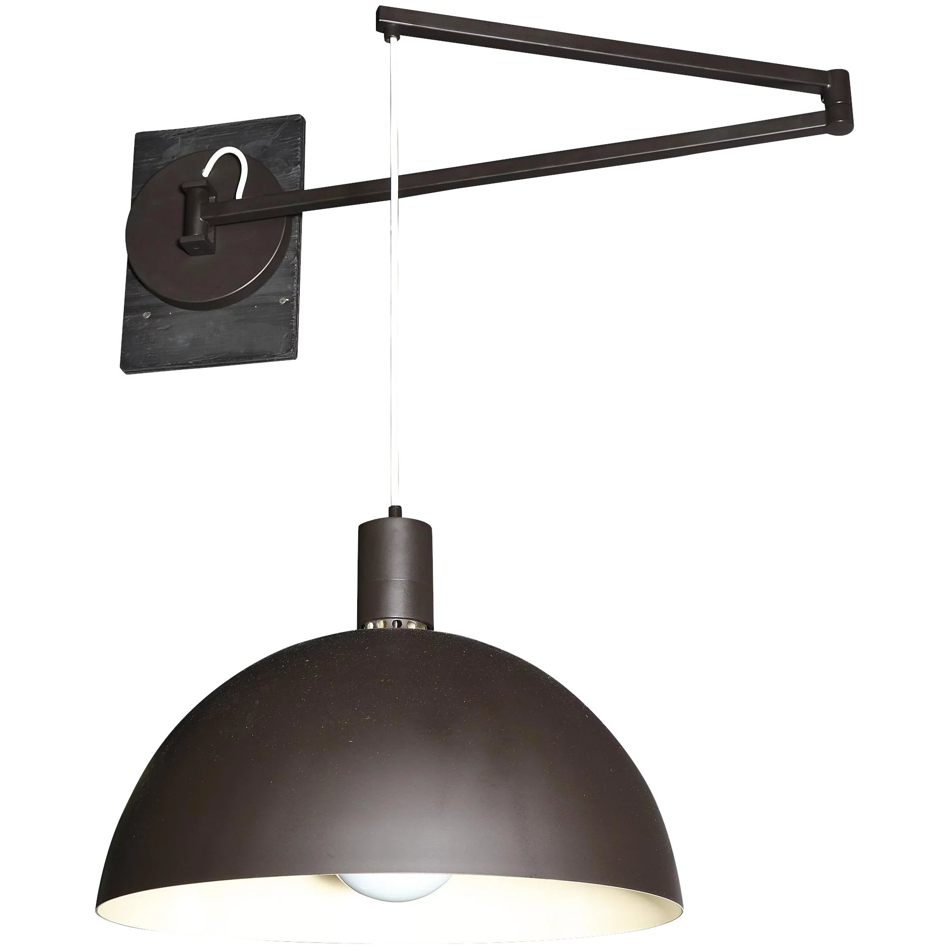 Patinated brass swing arm sconces with domed shades by for 14 wall street 20th floor new york new york 10005