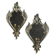 Pair of Venetian Mirrored Sconces