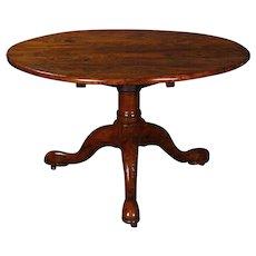 Fruitwood tilt top Breakfast table on tripod base