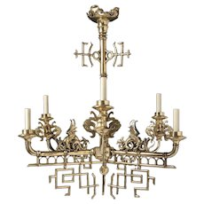 19th Century French Chinoiserie Chandelier