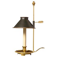Gilded bronze one light chamberstick bouillotte