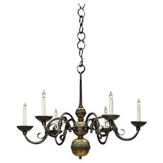 Bronze oil rubbed three light chandelier
