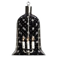 """AMERICANA"" crystal bell shaped three light lantern."