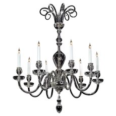 ADAM Style crystal, eight light chandelier with top tier scrolls.Lead time 14-16 weeks.