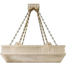 """TUXEDO RECTANGLE"" carved alabaster pendant"