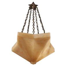 """""""ORION"""" Star shaped alabaster pendant"""