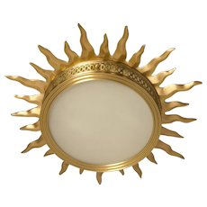"""SUNBURST"" Motif Gilded Bronze Light"