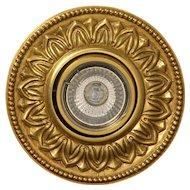 Gilded bronze halogen spot one light