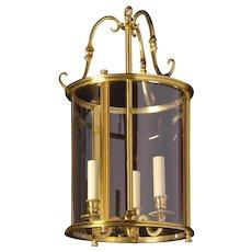 GEORGIAN Style gilded bronze three light lantern