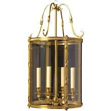 LOUIS XVI Style gilded bronze four light lantern