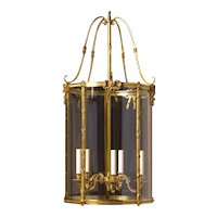 LOUIS XVI Style gilded bronze five light lantern