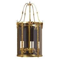 LOUIS XVI Style gilded bronze five light lantern