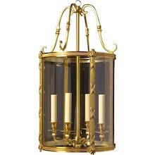GEORGIAN Style gilded bronze five light lantern