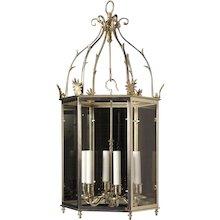 LOUIS XVI Style silvered bronze lantern, six lights.