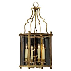 LOUIS XVI Style gilded iron four light lantern.
