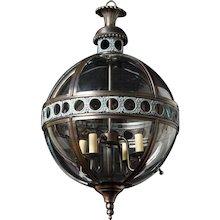"""ALBERT"" Victorian style tole and glass lantern"