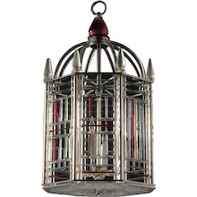 "Murano glass six light ""Birdcage"" Motif lantern"