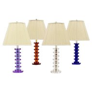 ART DECO Style cobalt blue crystal table lamp