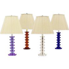 ART DECO Style clear crystal table lamp
