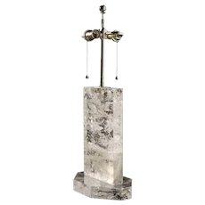 """""""GLACIER"""" Rock crystal table lamp"""