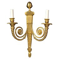 """CLASSIQUE"" gilded bronze two light sconce"